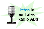 Listen to our latest radio ADs
